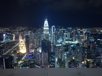 Kuala Lumpur at night from KL Tower Perfect place to see the Petronas towers in all its majesty