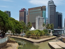 Kuala Lumpur at the confluence of Gombak and Klang rivers photo by Cmglee