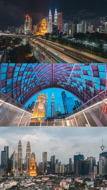 Kuala Lumpur Malaysia from  different vantage points