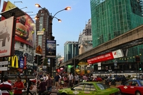 Kuala Lumpur Malaysia I stepped off the monorail and snapped this - bustling with life