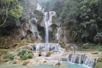 Kuang Si waterfall near Luang Prabang Laos Taken by me