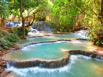 Kuang Si Waterfall outside Luang Prabang Laos
