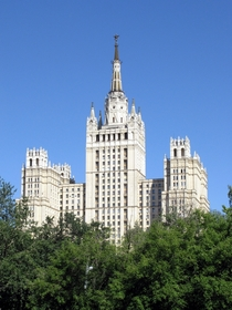 Kudrinskaya Square Building Moscow  metres tall the last of Stalins Seven Sisters