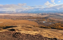 Kuray Steppe in Autumn - Altai Republic Russia