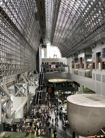 Kyoto Station in Kyoto Japan  December