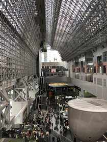 Kyoto Station in Kyoto Japan  Taken December  Architect was Hiroshi Hara and this most recent version was completed in