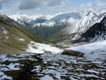 Kyrgyzstan - a little bit of snow on the path to Altyn-Arashan
