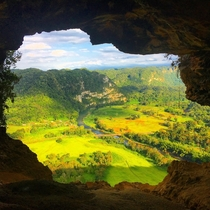 La Cueva Ventana Puerto Rico - Its called the window cave for a reason  OC amasoncanfixanything