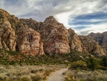 La Madre Mountains from Oak Creek Canyon trail at Red Rock Canyon Las Vegas NV