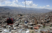 La Paz Bolivia as seen from a cable car part of their urban ropeway mass transit Jorge Bernal