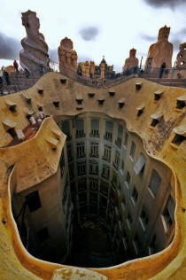 La Pedrera Barcelona Spain by Antoni Gaud