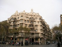 La Pedrera by Antoni Gaud in Barcelona Spain