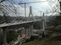 La Poya bridge in Fribourg Switzerland under construction finally cars are gonna be kept out of the citys medieval center OC