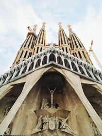 La Sagrada Familia in Barcelona Spain x