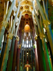 La Sagrada Famlia by Antoni Gaud - Barcelona started  - anticipated finish date in