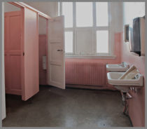 Ladies room in an abandoned school in Norway Photo by Ragnar Fredrik Johansen