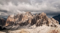 Lagazuoi mountain in the Dolomites