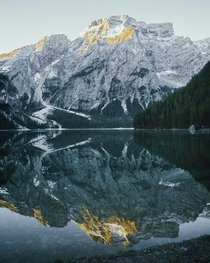 Lago di Braies Italy Have you ever seen a perfect reflection like this  - IG andrycurious