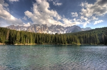 Lago di Carezza in the Italian Dolomites  by Afrank