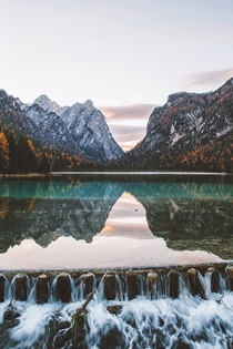Lago di DobbiacoLake Toblach in South Tyrol Italy
