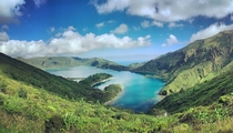 Lagoa do Fogo in Sao Miguel Azores Portugal