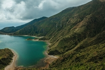 Lagoa do Fogo Sao Miguel Island Azores One of the most cool and beautiful places and hikes Ive experienced