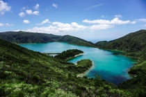 Lagoa do Fogo  The lake of fire on So Miguel island Azores