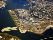 LaGuardia Airport on Flushing Bay Queens New York