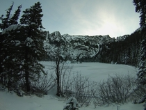 Lake Angeles in Olympic National Park January st