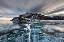Lake Baikal in winter by Sergey Pesterev