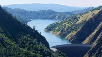 Lake Berryessa from above Putah Creek - Solano County CA