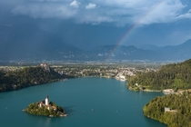 Lake Bled Slovenia Thank you Reddit for showing me this lake It was even better IRL