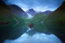 Lake Bondhusvatnet Norway by Bard Larsen