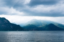 Lake Como just before a rainstorm Menaggio Italy