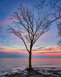 Lake Erie Sunset in Marblehead OH