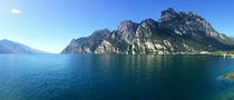 Lake Garda Italy Camera phone panorama taken while traveling Europe
