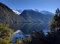 Lake Gunn Milford Sound New Zealand