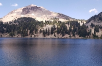 Lake Helen ft elevation at the base of Mt Lassen that last erupted in   x