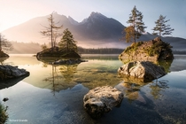 Lake Hintersee Bavaria  by Richard Grando