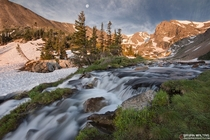 Lake Isabell Waterfall in Indian Peaks CO  by Bryan Maltais