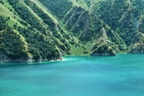 Lake Kezenoyam Chechnya in the Caucasus Mountains