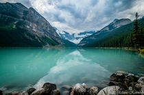 Lake Louise after the rain Alberta Canada
