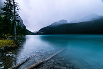 Lake Louise BANFF National Park during a bout of rain and hail