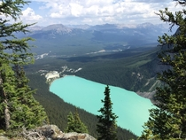 Lake Louise Canada from a different angle than normal
