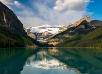 Lake Louise early in the morning before the crowds Banff national park Canada