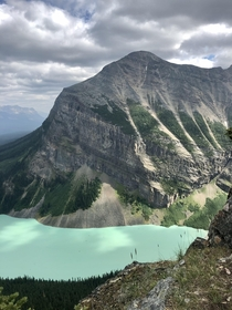 Lake Louise from the top of the Big Beehive Banff National Park Canada