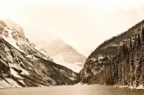 Lake Louise in Snow Alberta Canada