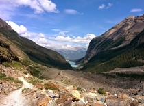 Lake Louise - Opposite angle of the famous Lake Louise picture about half way up the trail ft in elevation  x
