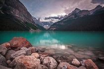 Lake Louise Storm  by Stephen Walasavage