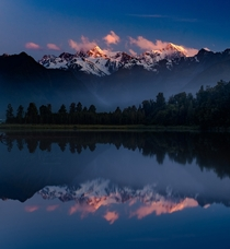 Lake Matheson and Aoraki